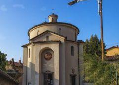 Mons. Cantoni a Duno al Tempio dei medici d'Italia